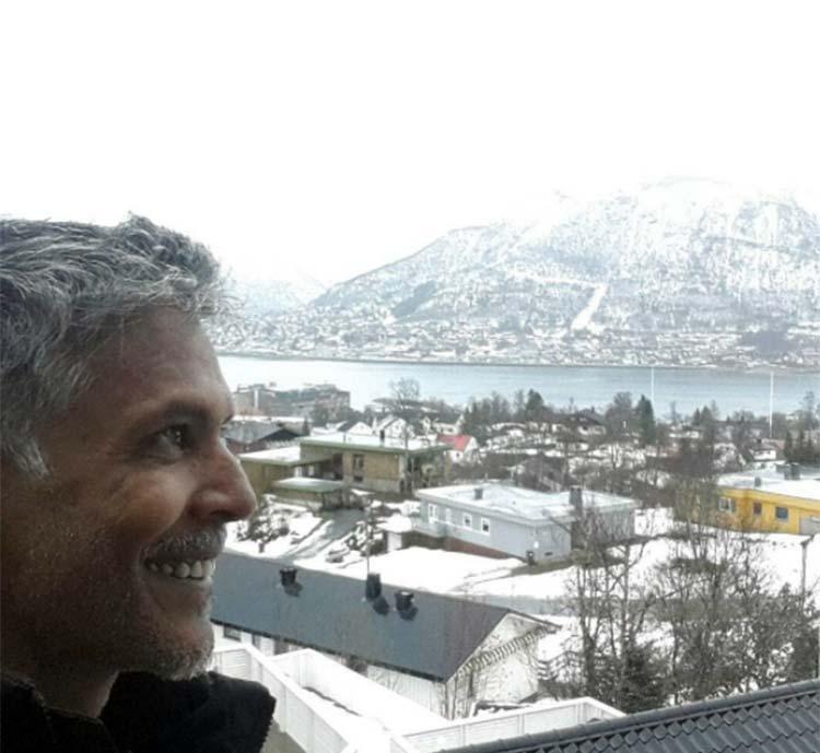 Milind Soman holidaying in Norway