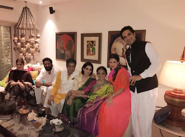 Mohit Raina at a Diwali party with friends