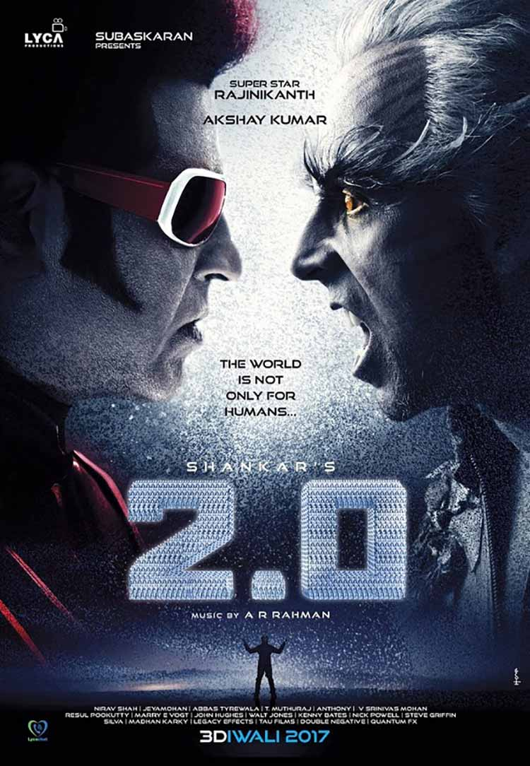 Rajinikanth's and Akshay Kumar's first look from Robot 2.0