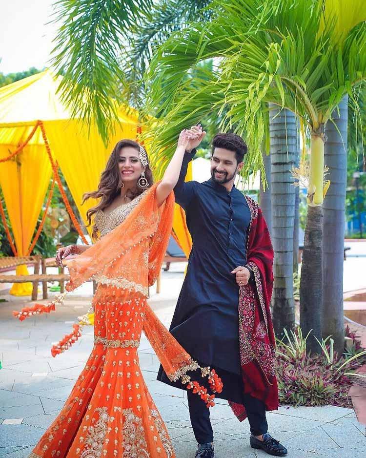 Ravi Dubey And Sargun Mehta Enjoying The Wedding