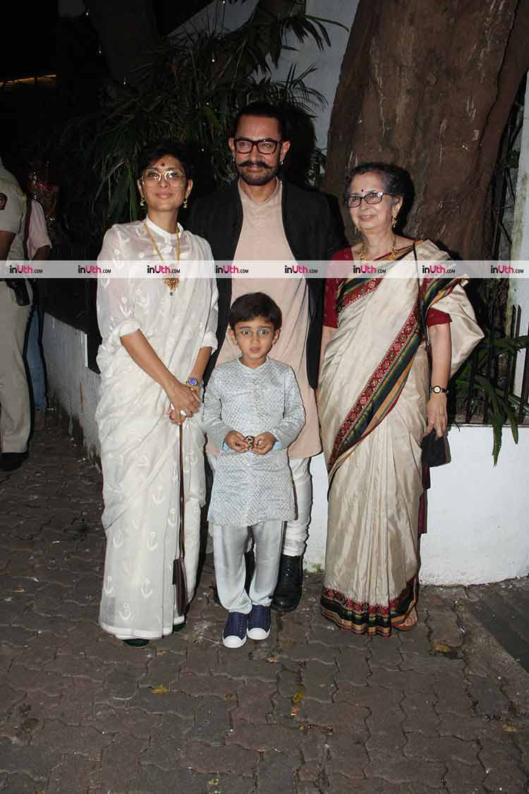 Aamir Khan with family hosted the Diwali party