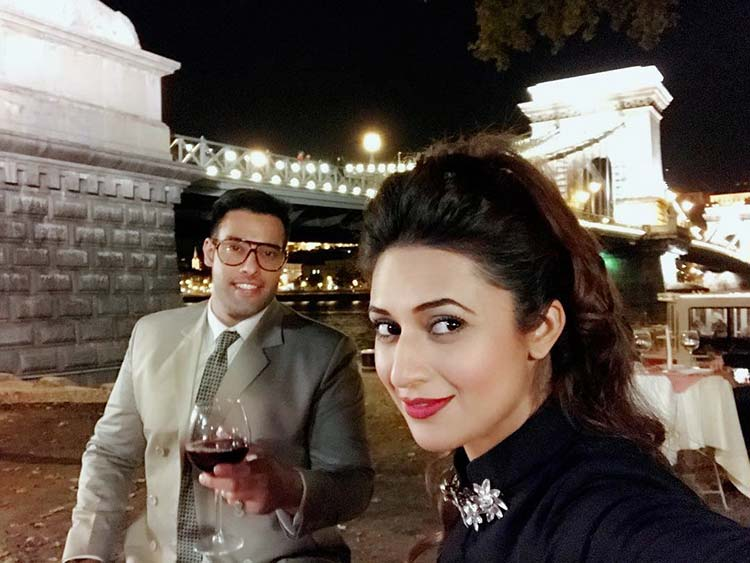 Divyanka Tripathi with Sangram Singh in Budapest