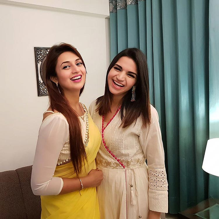 Divyanka Tripathi with her sister-in-law