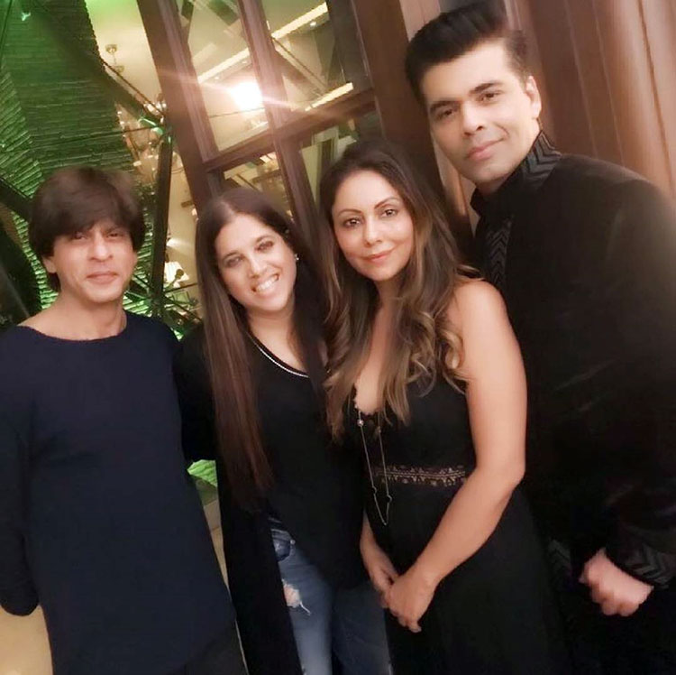 Gauri Khan with Karan Johar at the Diwali party