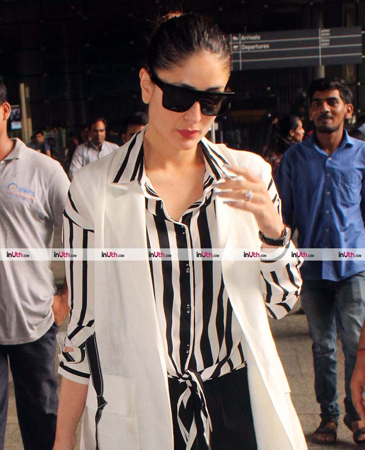 Kareena Kapoor Khan lands in Mumbai post Delhi schedule of Veere Di Wedding