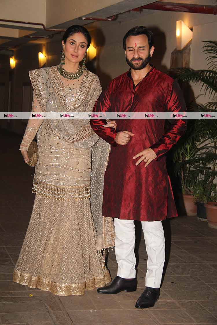 Kareena Kapoor and Saif Ali Khan spend a royal Diwali