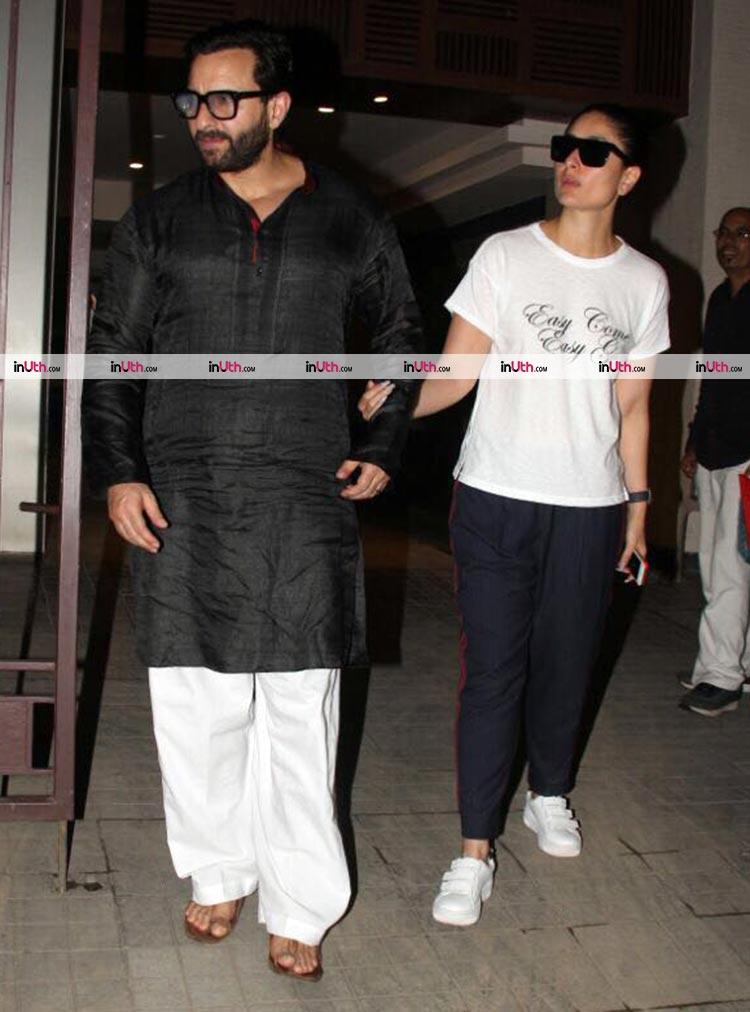 Kareena Kapoor and Saif Ali Khan spotted in Mumbai