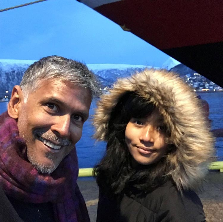 Milind Soman and Ankita Konwar look adorable in this pic from Norway