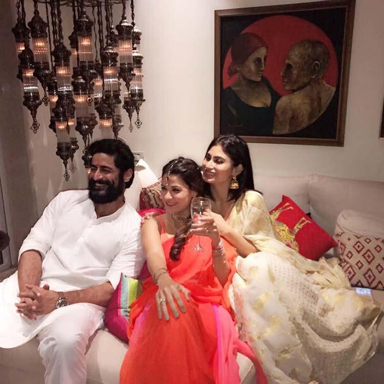 Mouni Roy and Mohit Rani's surreal Diwali celebrations
