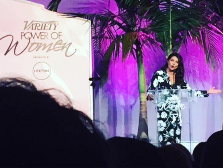 Priyanka Chopra speaking at the Variety Power Of Women Luncheon