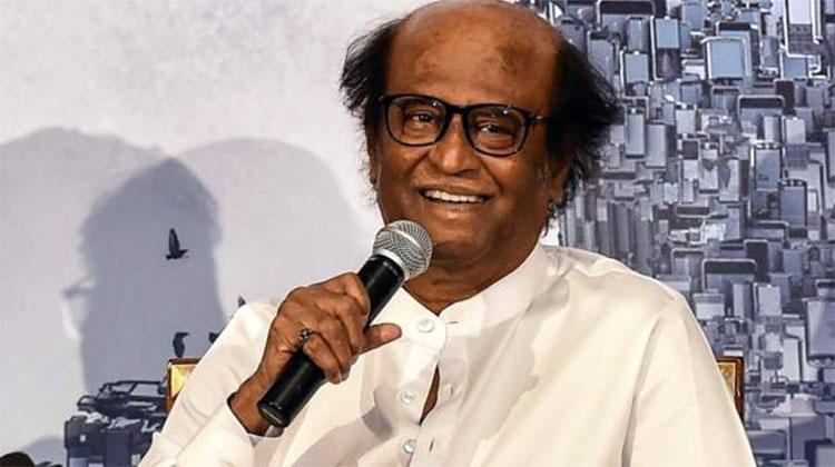 Rajinikanth at the press conference of 2.0