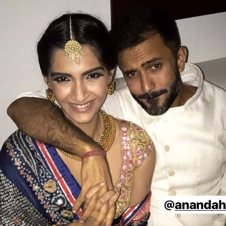 Sonam Kapoor and Anand Ahuja spreading cuteness