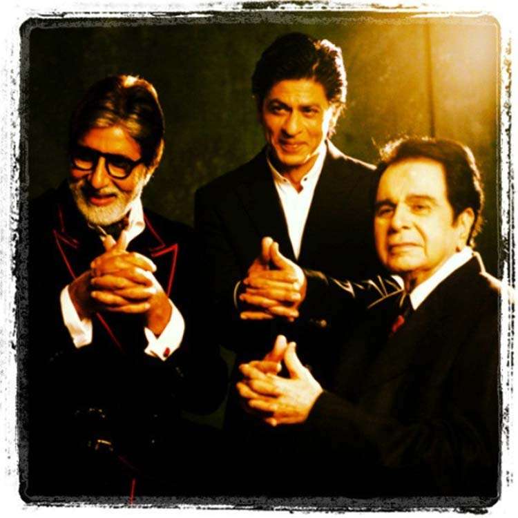 Amitabh Bachchan with Dilip Kumar and Shah Rukh Khan