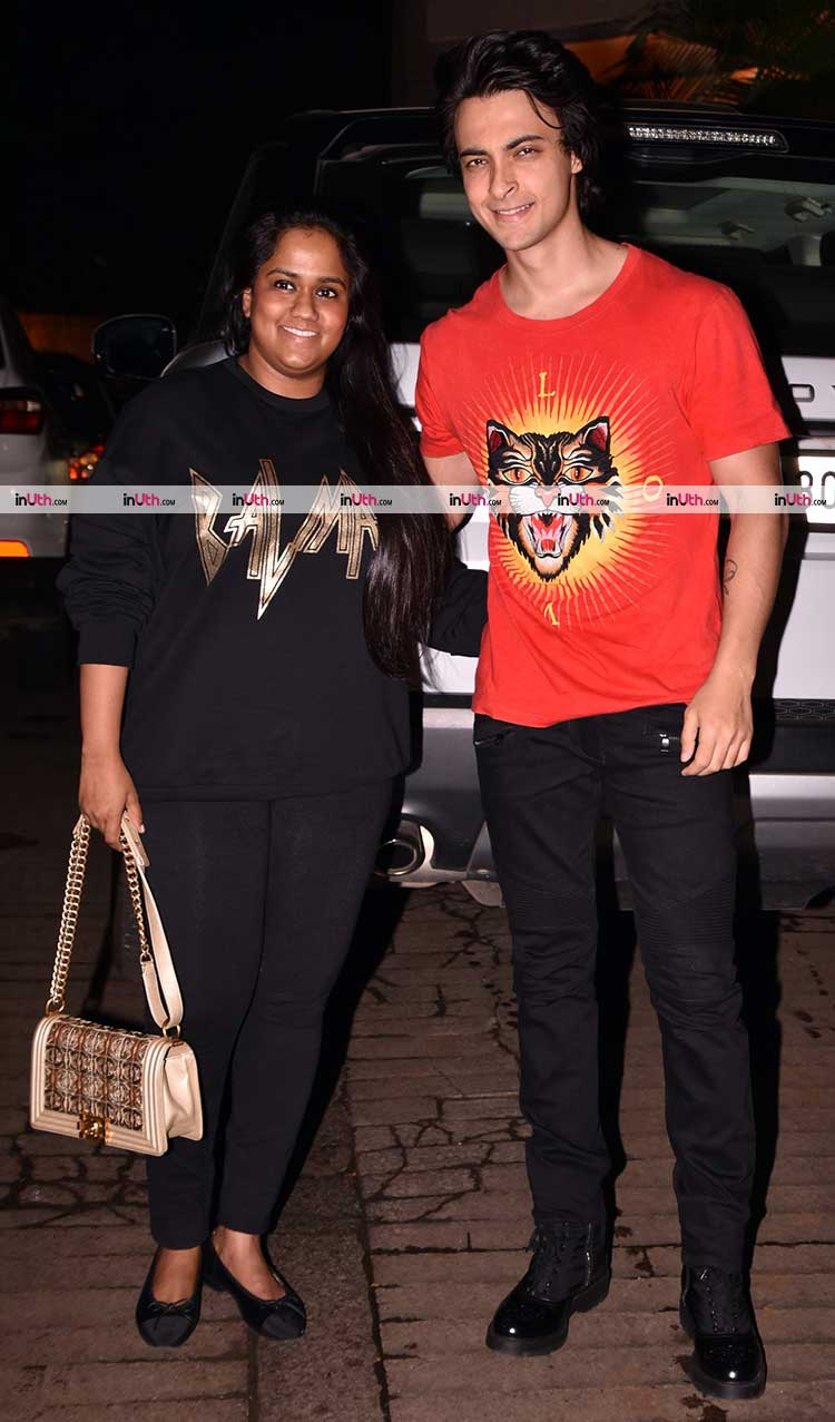 Arpita Khan and Aayush Sharma at Akshay Kumar's Diwali party