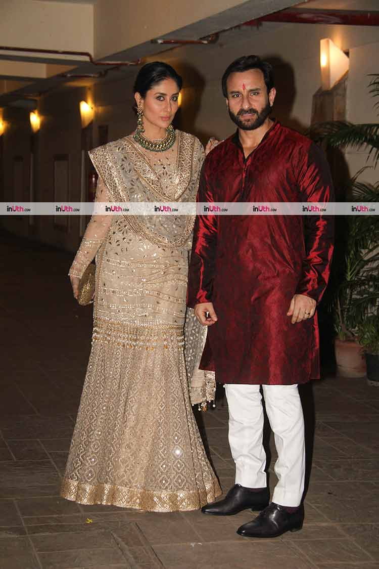 Kareena Kapoor and Saif Ali Khan spotted at Diwali party
