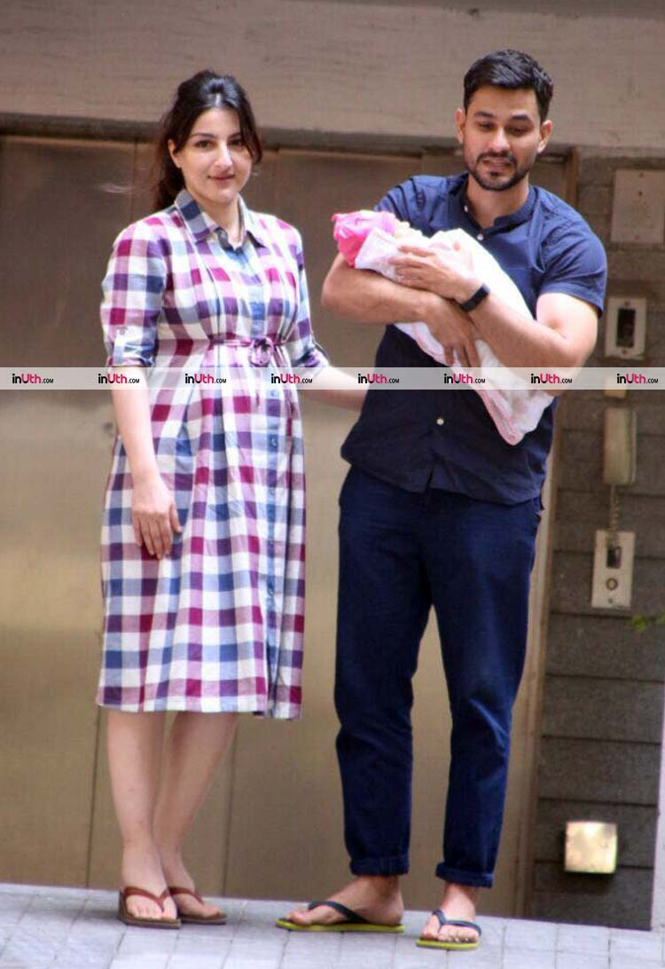 Kunal Khemu with Soha Ali Khan and daughter Inaaya Naumi Khemu