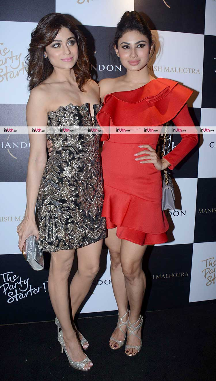 Mouni Roy attends Manish Malhotra's party with Shamita Shetty