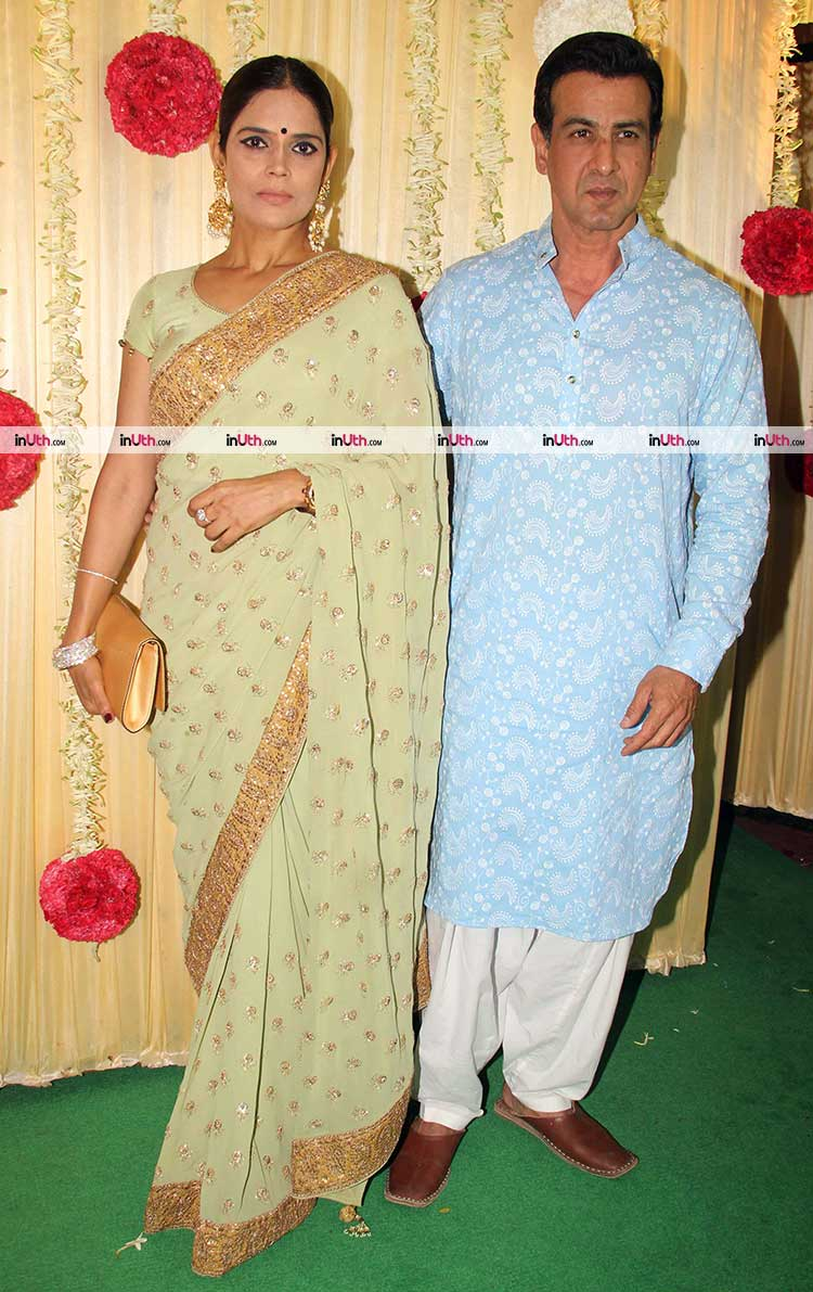 Ronit Roy with wife Neelam Singh at Ekta Kapoor's Diwali party