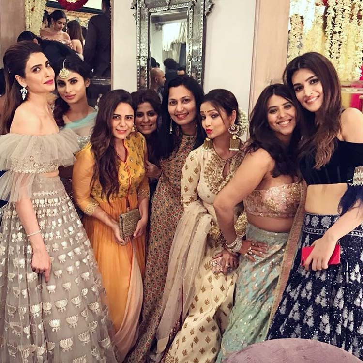 Ekta Kapoor with her gang of girls at last night's Diwali party