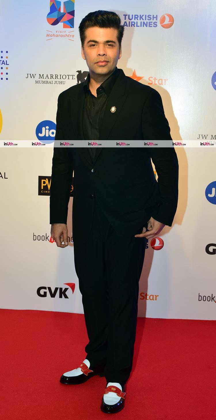 Karan Johar on the MAMI film festival 2017 red carpet