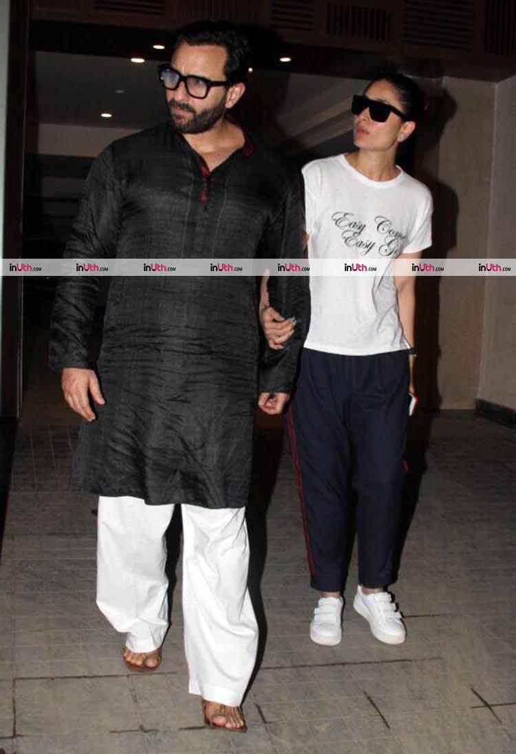 Kareena Kapoor and Saif Ali Khan at Soha Ali Khan's Mumbai residence