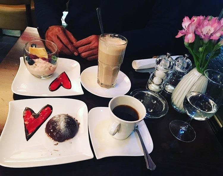 Milind Soman and Ankita Konwar's coffee date