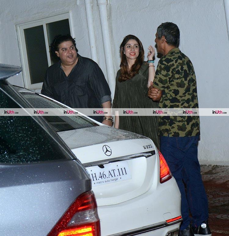 Sajid Khan with Bhavna and Chunky Pandey
