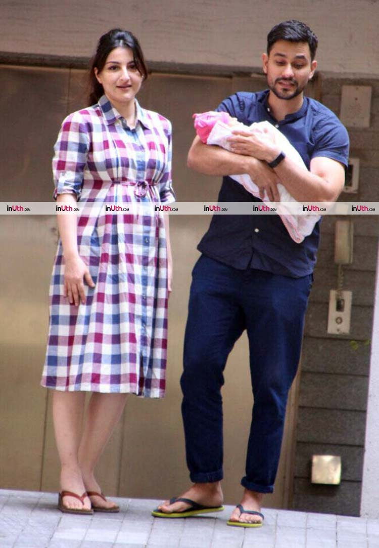 Soha Ali Khan and Kunal Khemu with their baby girl