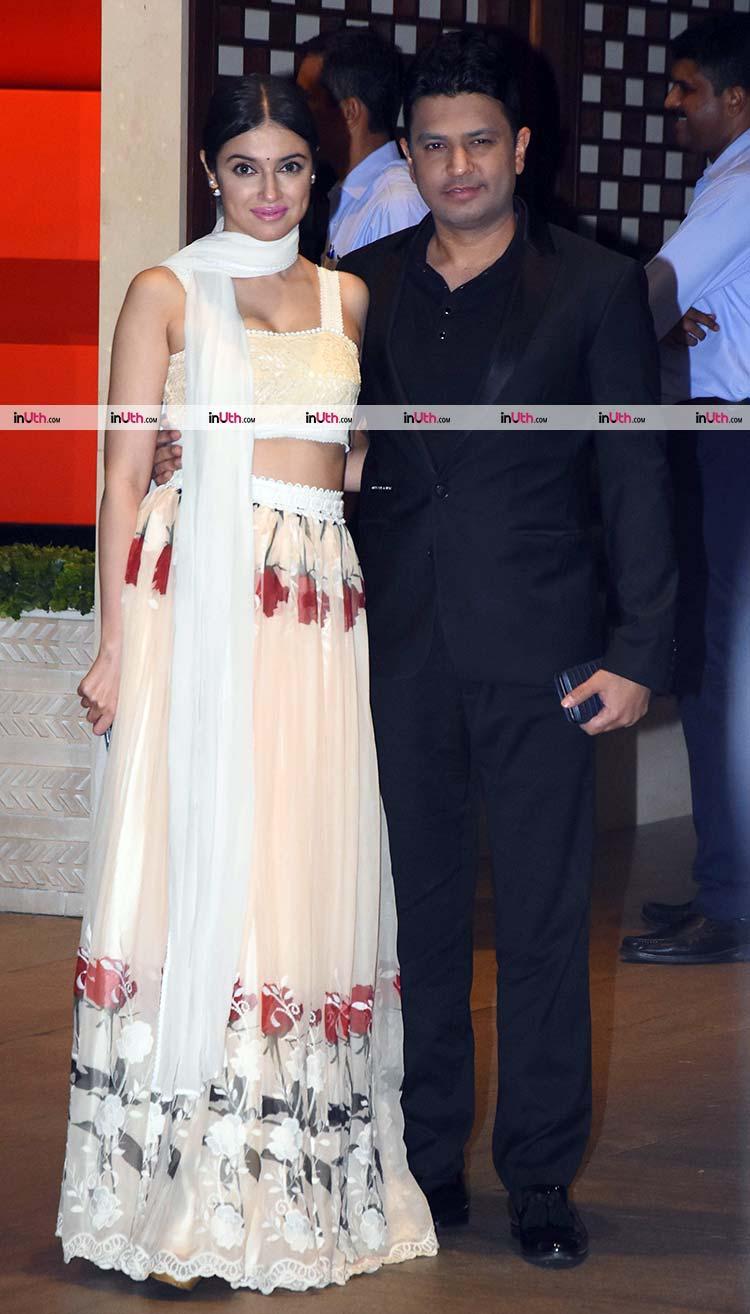 Bhushan Kumar and Divya Khosla Kumar at Ambani's party