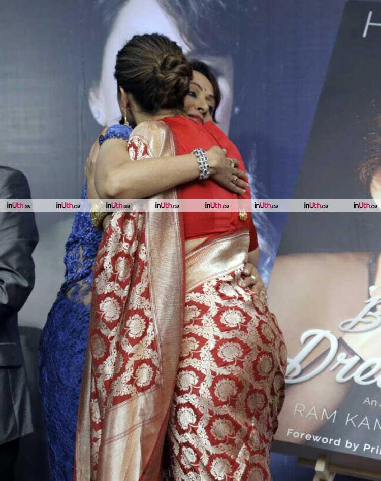 Hema Malini hugging Deepika Padukone