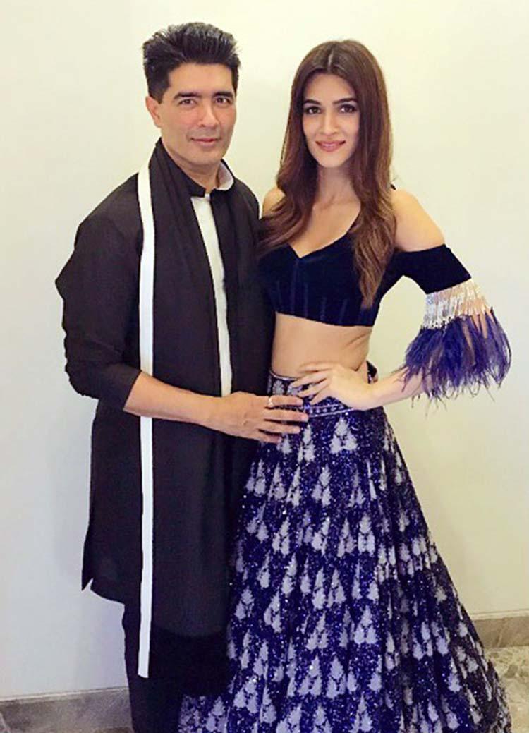 Manish Malhotra and Kriti Sanon at Ekta Kapoor's Diwali party