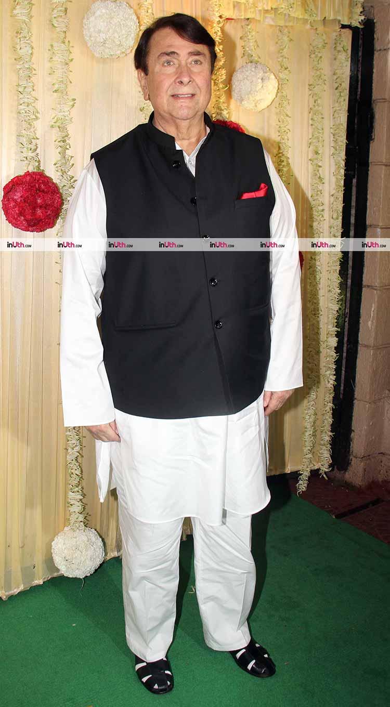 Randhir Kapoor at Ekta Kapoor's Diwali party