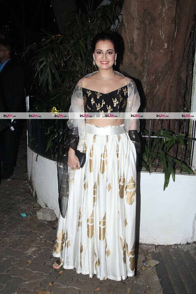 Dia Mirza at Aamir Khan's Diwali party