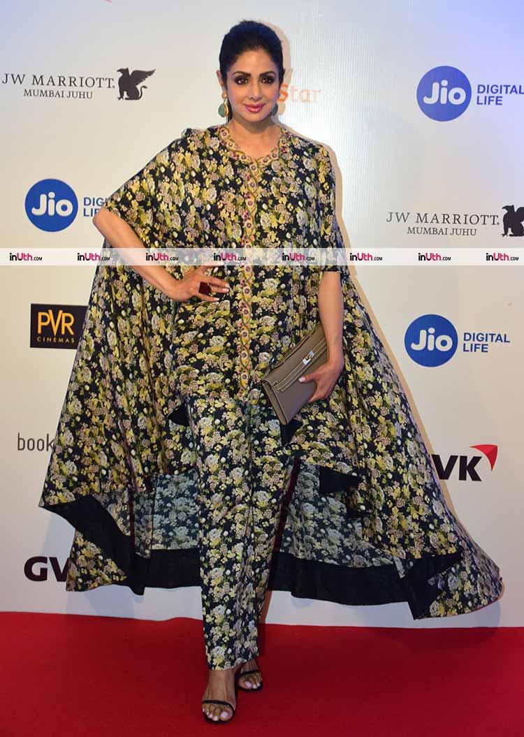 Sridevi on the MAMI film festival 2017 red carpet