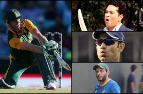AB de Villiers breaks Sachin Tendulkar, Virender Sehwag, Shahid Afridi's record