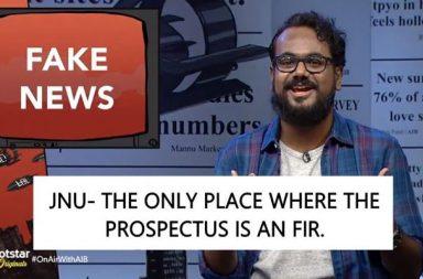All India Bakchod, AIB, AIB Comedy, AIB shows, AIB one-liners, funny one-liners, witty one-liners, humour, comedy in India, comedians, Kangana Ranaut, Karan Johar, Ranveer Singh, Arjun Kapoor, Narendra Modi, Prime Minister, Prime Minister of India, Dog filter, Snapchat, Dog meme, Controversy, AIB Roast, AIB controversy, Narcos Spoof, Mitros, AIB First Draft, First Draft, Screenwriting workshop, Story Building workshop by AIB, Tanmay Bhat, Gursimran Khamba, Rohan Joshi, Ashish Shakiya, nationalism, antinationalism, JNU, patriotism, On Air with AIB Season 2, Hotstar, Fake News