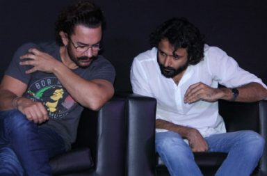 Aamir Khan and Advait Chandan