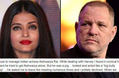 Aishwarya Rai, Harvey Weinstein
