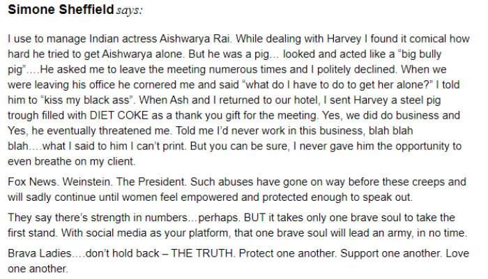 Harvey Weinstein, Aishwarya Rai Bachchan