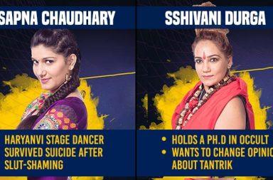 Sapna Chaudhary, Sshivani Durga, Bigg Boss 11