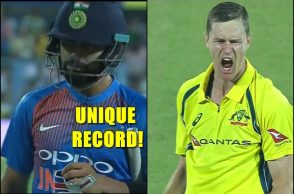 Virat Kohli duck, Jason Behendorff record, Jason Behendorff 4 for 21, Jason Behendorff takes Virat Kohli's wicket, India vs Australia 2nd T20I, Virat Kohli first duck T20I