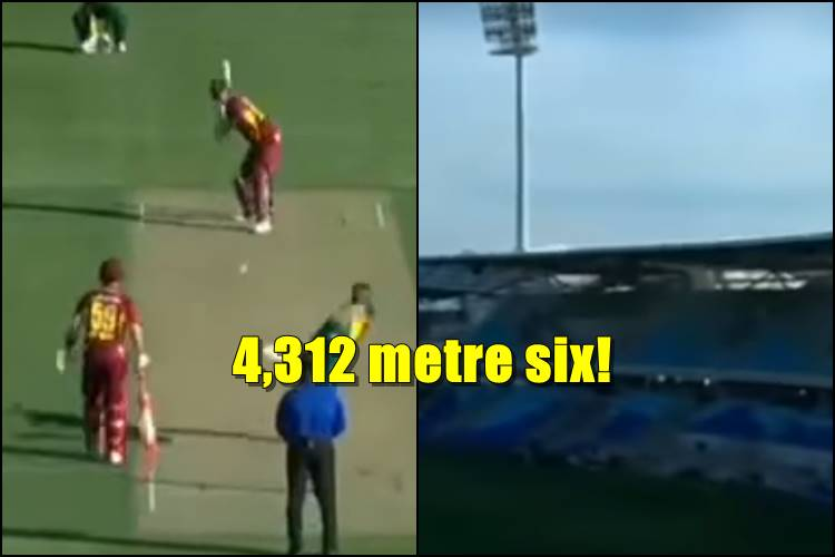 Ben Cutting hits a huge hit and the commentator described it as '4,312 metre six' — WatchVideo