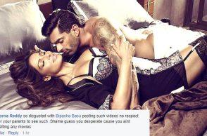 Bipasha Basu, Karan Singh Grover, condom ad still