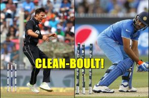 Rohit Sharma, Trent Boult, Rohit Sharma bowled, Rohit Sharma against left-arm seamers, Rohit Sharma weakness, India vs New Zealand, Trent Boult unplayable delivery