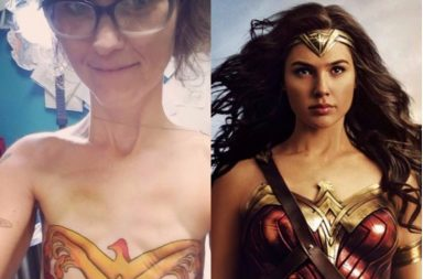 Cancer, Mastectomy, Scars, Wonder Woman, Tattoo