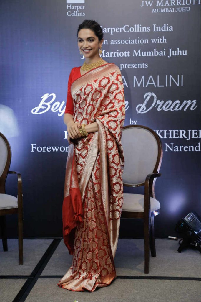 Deepika Padukone loves red sarees and these photos will ...