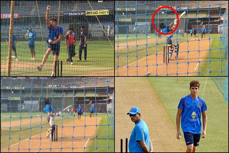 Arjun Tendulkar helps Team India prepare for Trent Boult, surprises Shikhar Dhawan with a bouncer — Watch Video