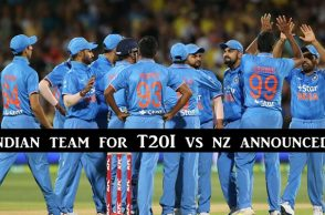 Indian T20I squad vs New Zealand