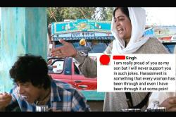 Indian mom who schooled adult son for making a sexual harassment joke is the Internet's new hero