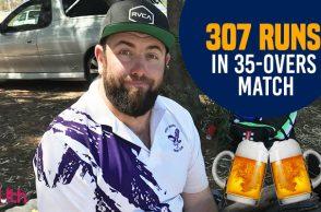 Josh Dunstan, Josh Dunstan 307, Truck driver, Cricket records, Australia cricket records, Most runs in an innings as a batsman,